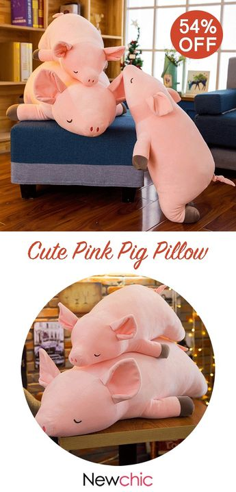【54% off】Cute Pink Pig Pillow Decor Plush Toy Soft Cotton House Decor Child Fun Toy Gift 4 Size.#cushion #homedecor #pillows