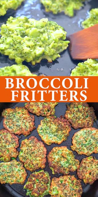 These light, golden-brown Broccoli Fritters make a delicious vegetarian dinner or lunch — and kids love them, too! Ready in less than 30 minutes. FOLLOW Cooktoria for more deliciousness! #broccoli #fritters #lunch #vegetarian #snack #kidfriendly #toddler #yummy #tasty #recipeoftheday