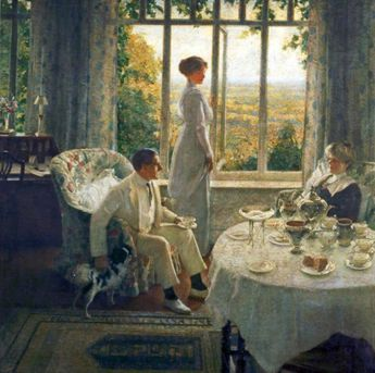 Summer Afternoon (An Interior, Lord Birkenhead Seated), Leonard Campbell Taylor