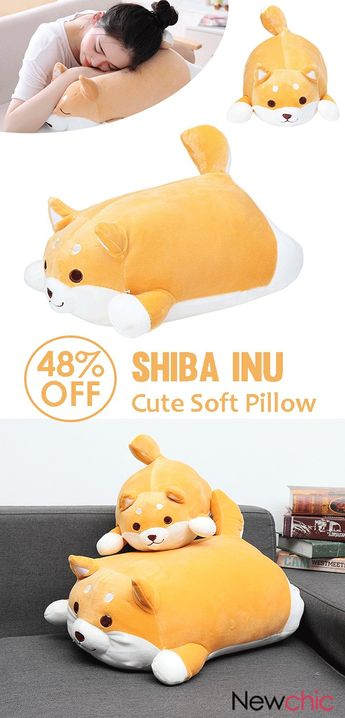 【48% off】35/55cm Shiba Inu Dog Cute Super Soft Kawaii Animal Kid Toy Stuffed Cushion Pillow Plush.#cute #pillows #gifts