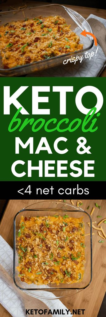 Keto Broccoli Mac and Cheese With Bacon