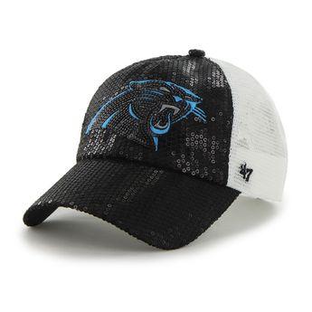 Carolina Panthers Dazzle Mesh Clean Up Black 47 Brand Womens Hat 7c8161cbf