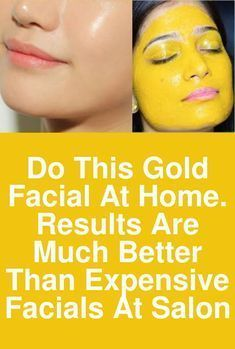 Do this gold facial at home. results are much better than expensive facials at salon