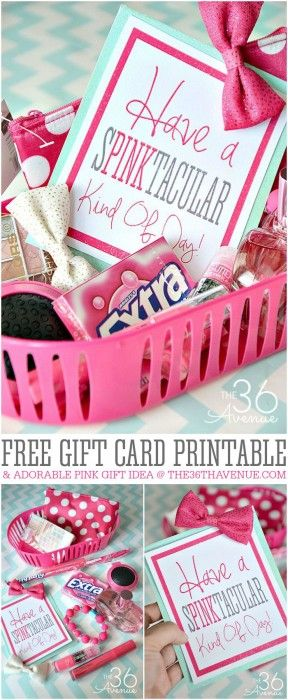 Gift Idea and Free Gift Card Printable