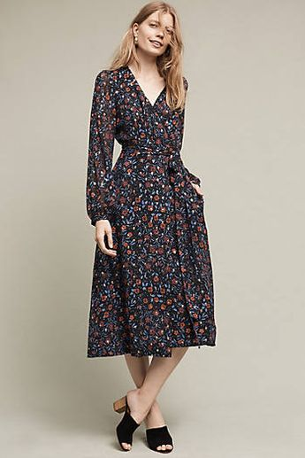 92ce6e472976 Rosebush Midi Wrap Dress Lovely!
