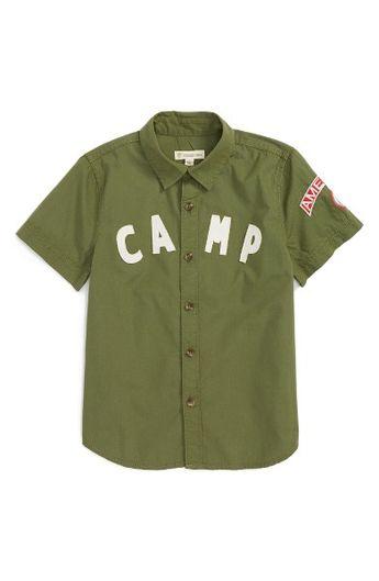 75514ee4 Main Image - Tucker + Tate Camp Shirt (Toddler Boys & Little Boys)