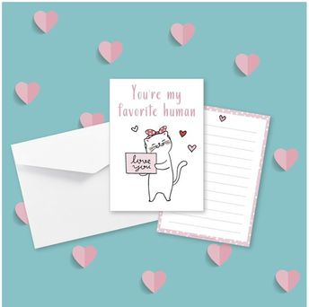 Postcard - Love Cat Collection - St valentin