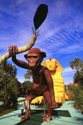 Goofy Golf..Panama City Beach, Florida  Kids will enjoy this.  It will make for cute pics.