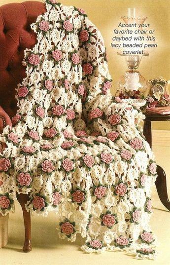 Free Crochet Rose Afghan Pattern