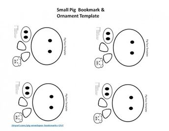 Little Pig Face Template Comes Form A Site Which Has Craft Projects About Chinese New Year