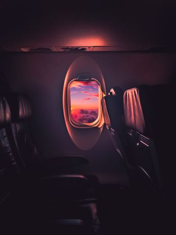 Watching the sunset from 32000ft -