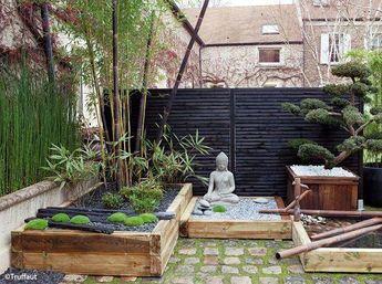 Zen Garden Pathway Raised Above The Garden
