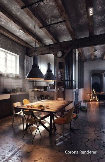 25+ Interesting Ways to Create an Industrial Style Interior Design