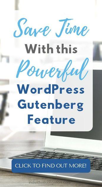 How To Use WordPress Gutenberg Reusable Blocks To Save Time