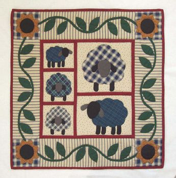 a92d9ea13 Pattern Baa Baa Black Sheep Wool Applique by PrimitiveQuilting