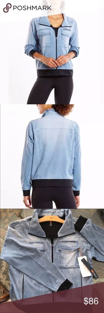 29c0b800a1dc6 Lucy Bleached IndiGo Trucker Jacket New NWT A lightweight athletic jacket  Inspired by a favorite denim