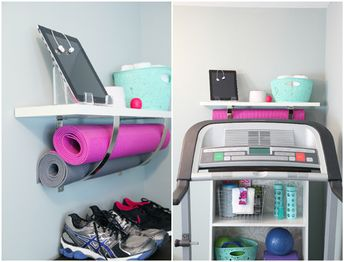 Treadmill Station -  I need to do this to get inspired to hop on my treadmill soon!!