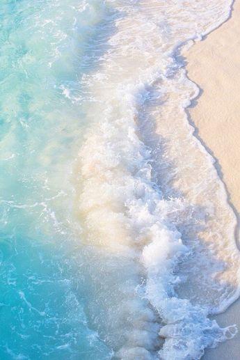 Photographie de plage, Ocean Prints, Coastal Wall Art, Aqua Blue Beach, Seashore Horizon, Surf Decor, Wave Crashing Onshore, Beach Wall Art