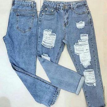 Calça jeans destroyed maravilhosa. Modelo que tem que ter! R$ 199,90
