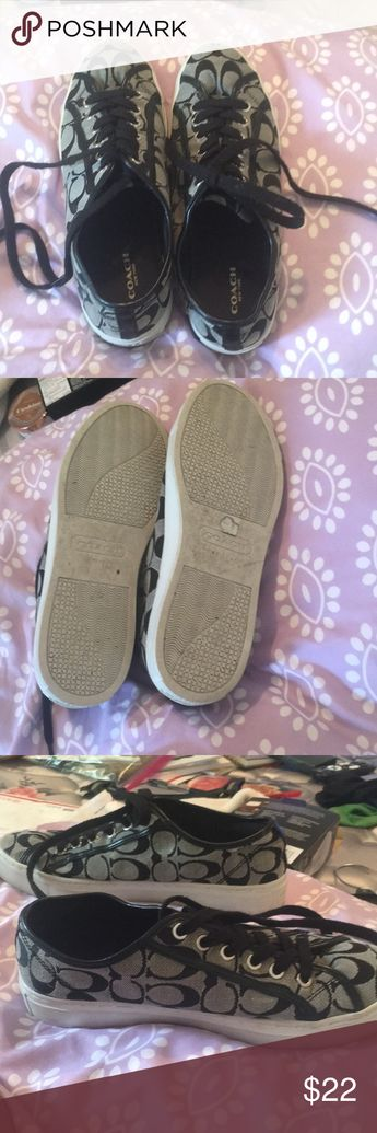 COACH SHOES NICE CONDITION These have been worn a handful of times but still in great condition. The only flaw is the end of the shoe string shown in the last picture. Open to offers! Coach Shoes