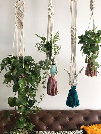 Sesame, Macrame plant hanger, macrame montreal, boho montreal, plant and cactus, cotton rope natural cotton, plant hanger, bohemian decor