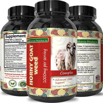 Horny Goat Weed Extract  Libido Supplement for Men and Women  Boosts Sex Drive and Increases Desire Naturally  Extra Strength Herbal Formula  With Maca Root and Tongkat Ali  By California Products -- You can get additional details at the image link. (This is an affiliate link)