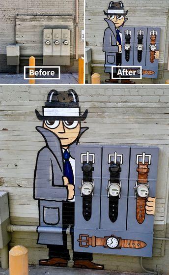 De nouvelles réalisations géniales de street art par Tom Bob