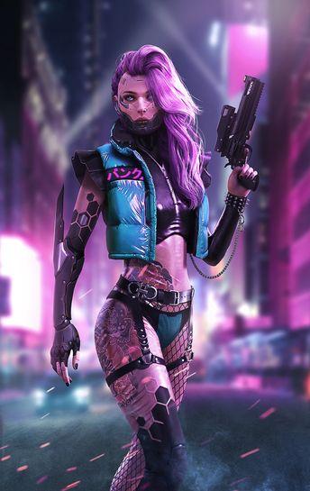 «Cyberpunk female killer» by DaoDao Mao on ArtStation    #cyberpunk
