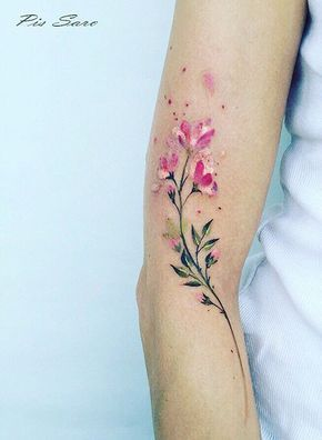 """I wrote a poem once about """"seaweed wrapping itself like love around my ankles""""...this isn't seaweed or an ankle, but goodness, doesn't it give you that feeling of love and beauty just wrapping itself around you?  Pis Saro #Tattoosforwomen"""