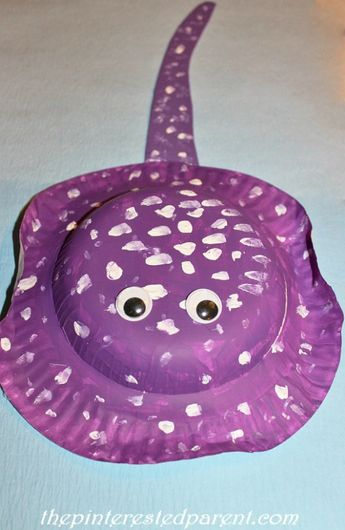 Paper Plate Stingray Craft