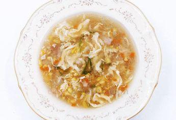 Chicken and Corn Egg Drop Soup #eggdropsoup #chinesesoup #asiansoup #recipe #souprecipes #soup