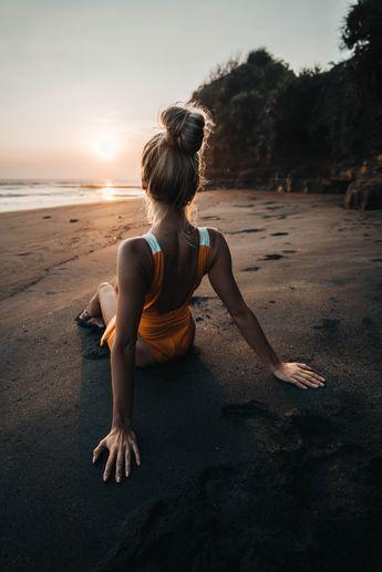 Bali black sand beach photoshoot