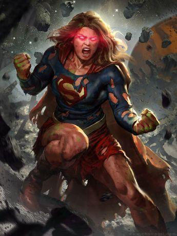 ArtStation - Supergirl's Rage, Javier Charro