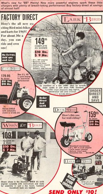 1962 ad: Dart-CYCLE by Rupp