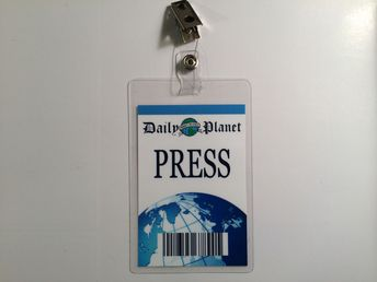 Details about Superman Clark Kent Daily Planet Press Pass Badge ID Card Costume Cosplay Prop