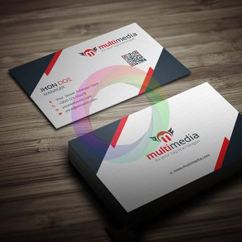 Multimedia Business Card Template - Graphic Templates