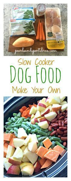 DIY Slow Cooker Dog Food - Dog Food - Ideas of Dog Food #DogFood -  Home made dog food in the slow cooker: healthy all natural and CHEAP!