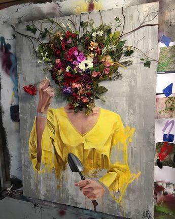 Têtes de fleurs par Sage