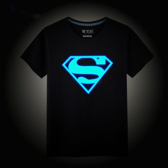 Cute boy glow in the dark black t-shirt