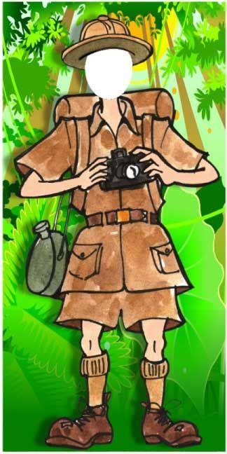 Jungle Safari Man Photo Op / It's a jungle out there