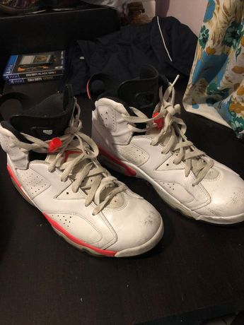 60be748843d Air Jordan 6 retro White infrared Size 10 Used Good Shape  fashion  clothing