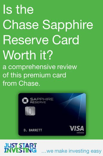 Is the Chase Sapphire Reserve Card Worth it?