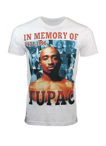fdf0127d Mens Vintage Hip Hop Printed T-Shirts Memory Of Tupac - CY180NRZSKG