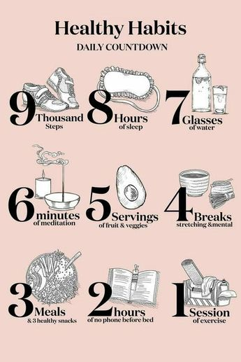 Healthy Habits!! Daily Countdown