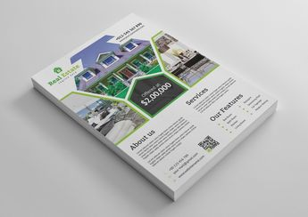 Premium Real Estate Flyer Design Template - Graphic Templates