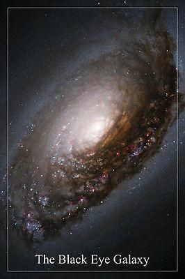 THE BLACK EYE GALAXY Hubble Space Telescope image POSTER 24X36 spiral stars