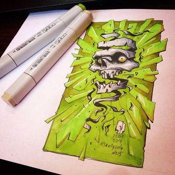 Creative Skull Illustration by Andrey Pridybaylo