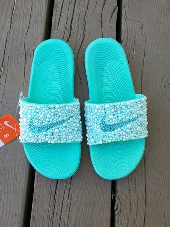 14f56c89d120f2 Tiffany inspired Glam Nike Slides
