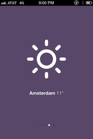 Sun - simple and extremely minimalist weather app for iOS built on HTML5 as a webapp