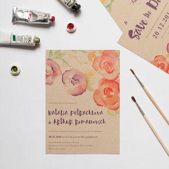 Rustic Botannica - Rustic Floral Wedding Invitations
